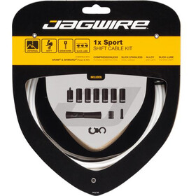 Jagwire 1X Sport Shift Set Cavo Del Cambio, white